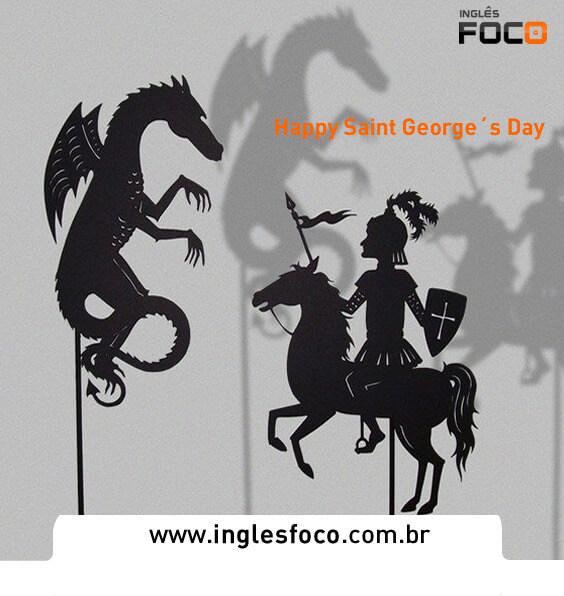 Feliz dia de São Jorge Happy Saint Georges Day Curso de Inglês